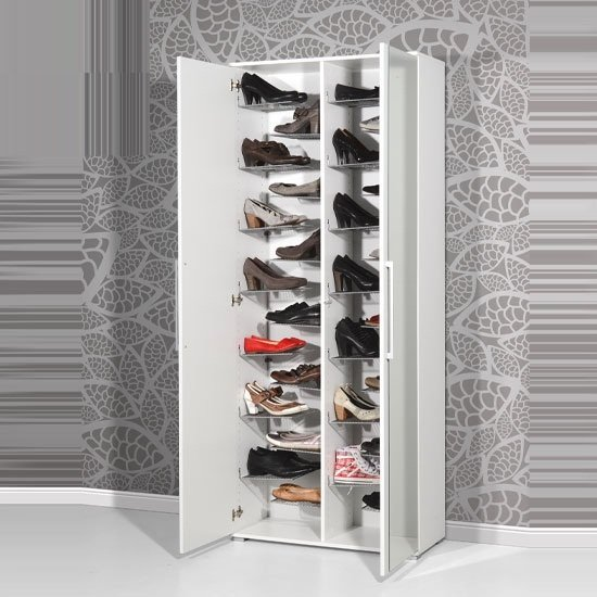 Etagere En Inox Ikea Carlucci Mirror Shoe Storage Cabinet In White Wood Finish