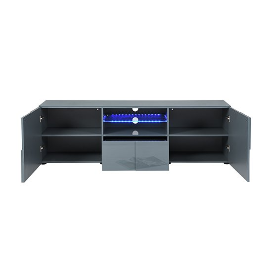 Tv Sideboard Modern Astra Modern Tv Sideboard In Grey High Gloss With Led ...