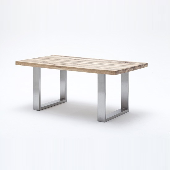 Esstisch Novel Capello Wild Oak Dining Table With Stainless Steel Legs
