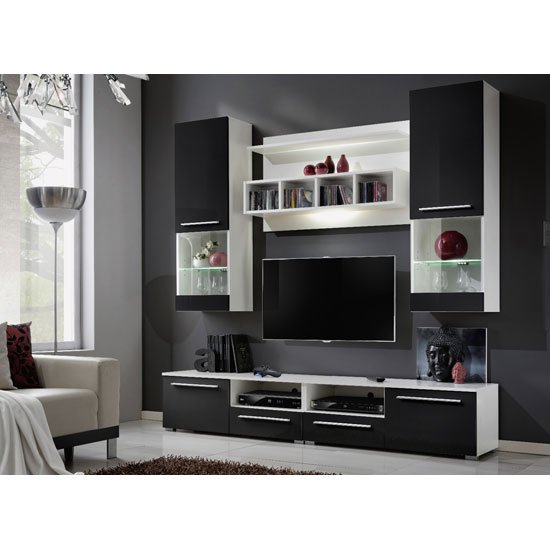 Interiors Meuble Tv Black High Gloss Living Room Furniture And 5 Perks It Offers