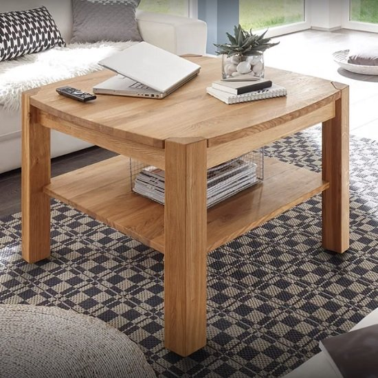 Couchtisch Kernbuche Quadratisch Rosie Coffee Table Square In Core Beech With Undershelf