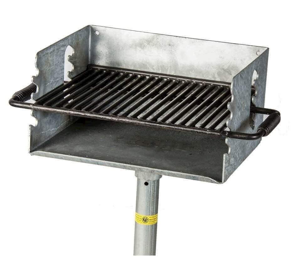 Outdoor Grill 300 Sq In Park Galvanized Outdoor Charcoal Grill