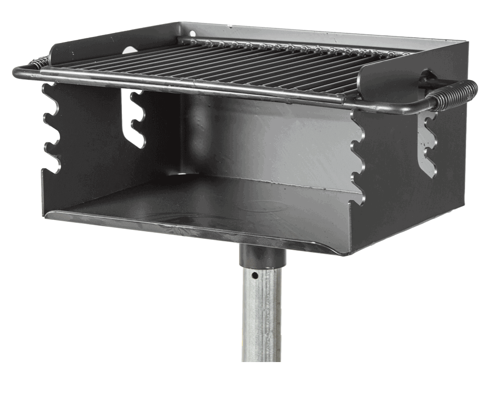 Outdoor Grill 300 Sq In Park Outdoor Charcoal Grill With Flip Grate 79 Lbs