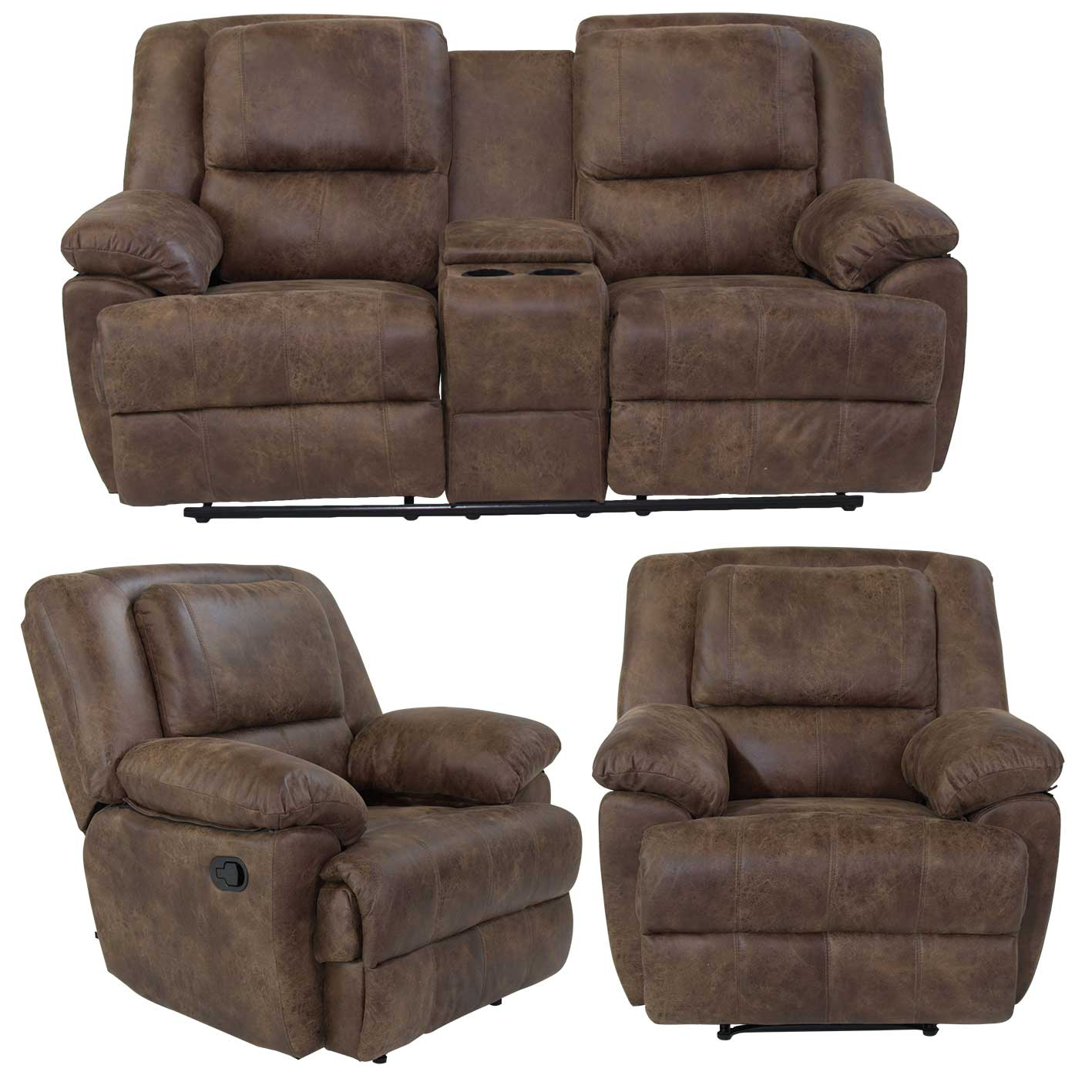 Recliner Lounge Lea008 Recliner Lounge Suite Furniture Liquidation Warehouse