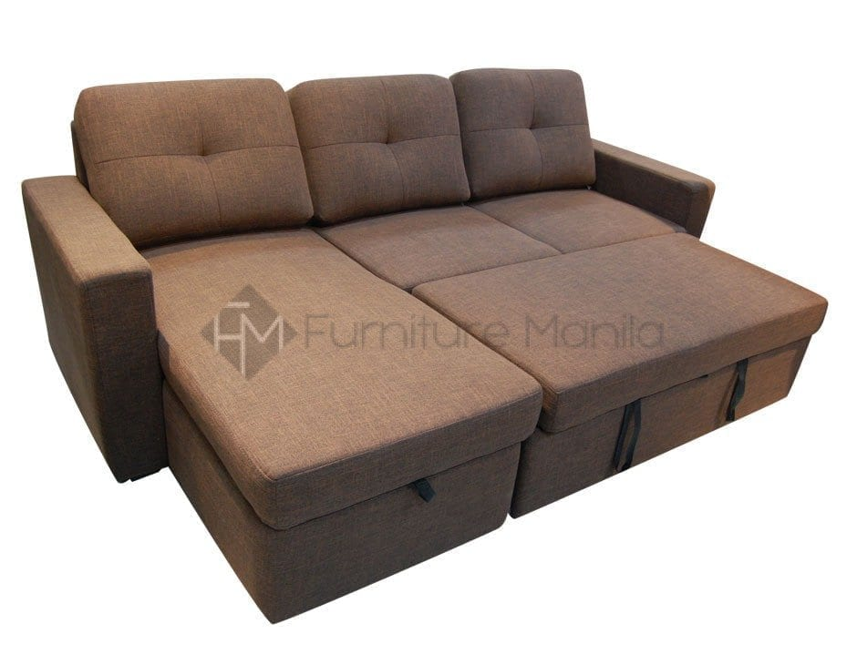 Sofa Manila Philippines Audrey L-shape Sofabed With Storage | Home & Office