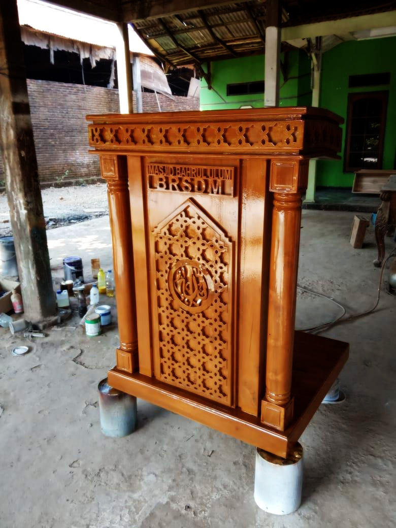 Wholesale Suppliers Indonesia Teak Speech Podium For Wholesale By Furniture Manufacturer