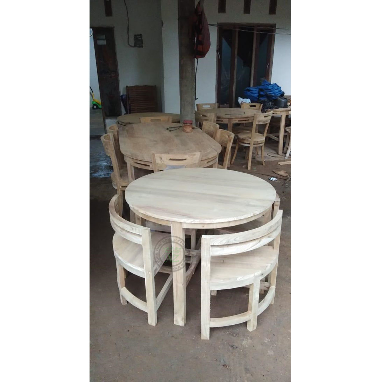 Teak Dining Tables With Nested Chairs Nz Furniture Indonesia