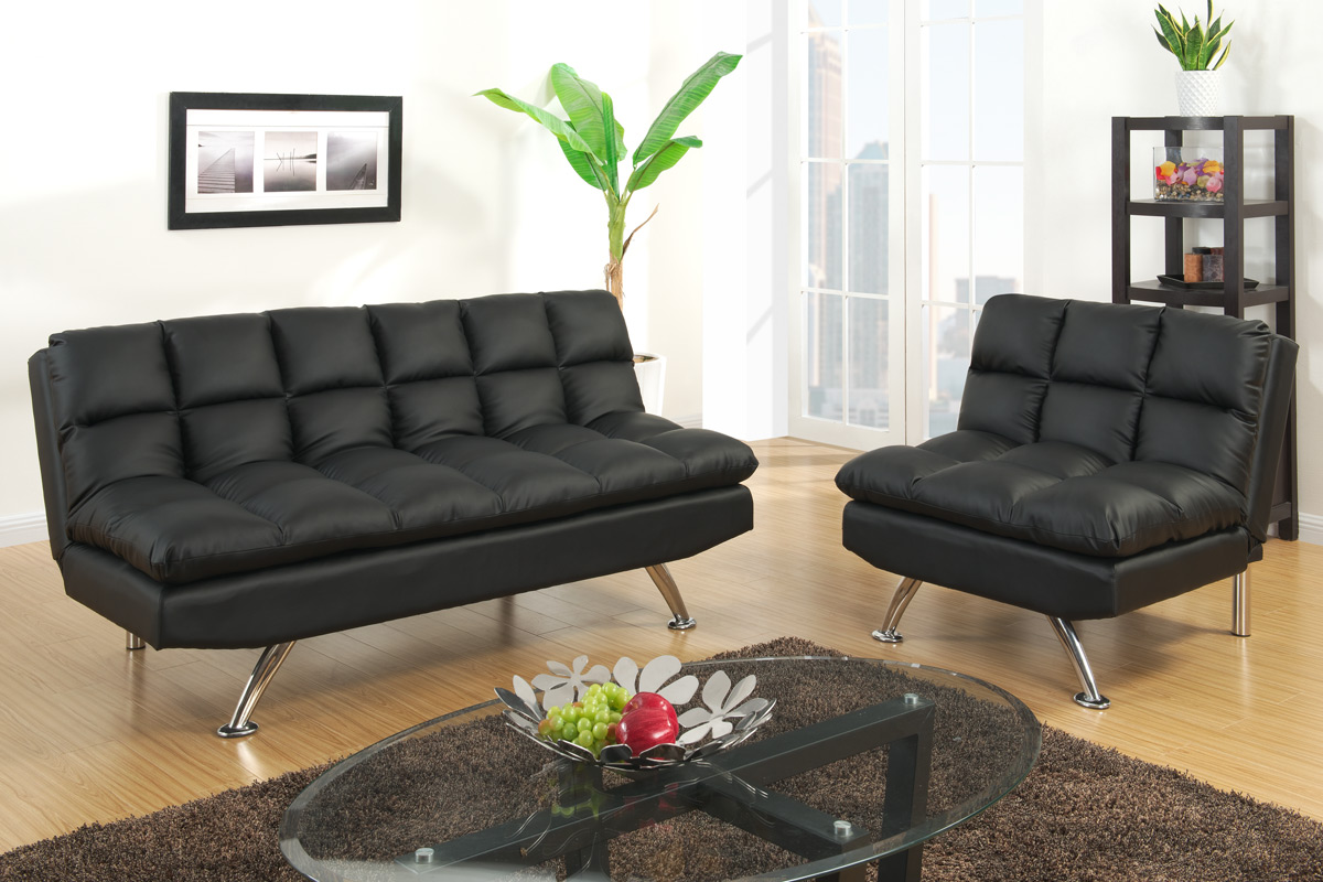 Sofa Bed Los Angeles F7013 Futon Black