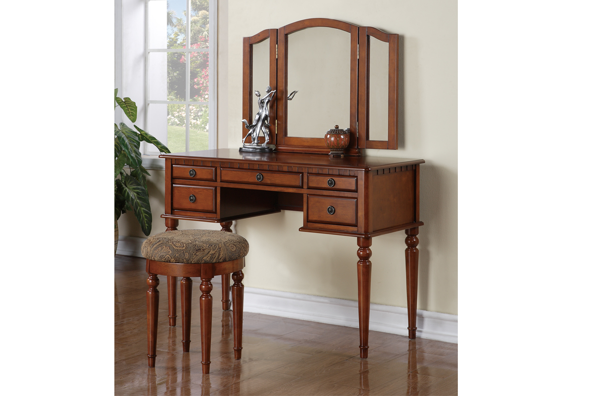 Wooden Make Up Table Vanity F4073 With Stool