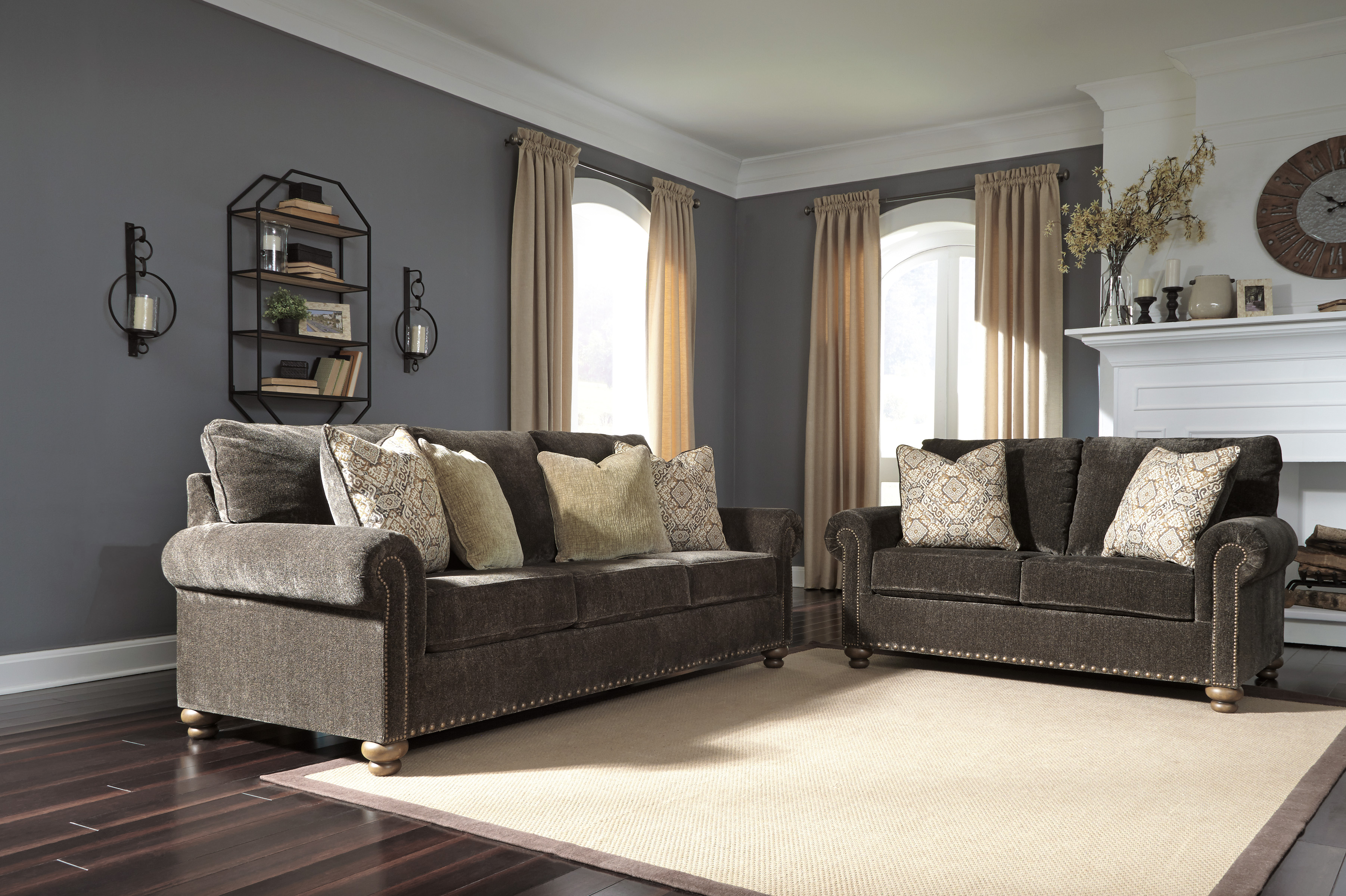 Brown Sofa And Loveseat Sets Ashley Stracelen 2pc Dark Brown Sofa Loveseat Set