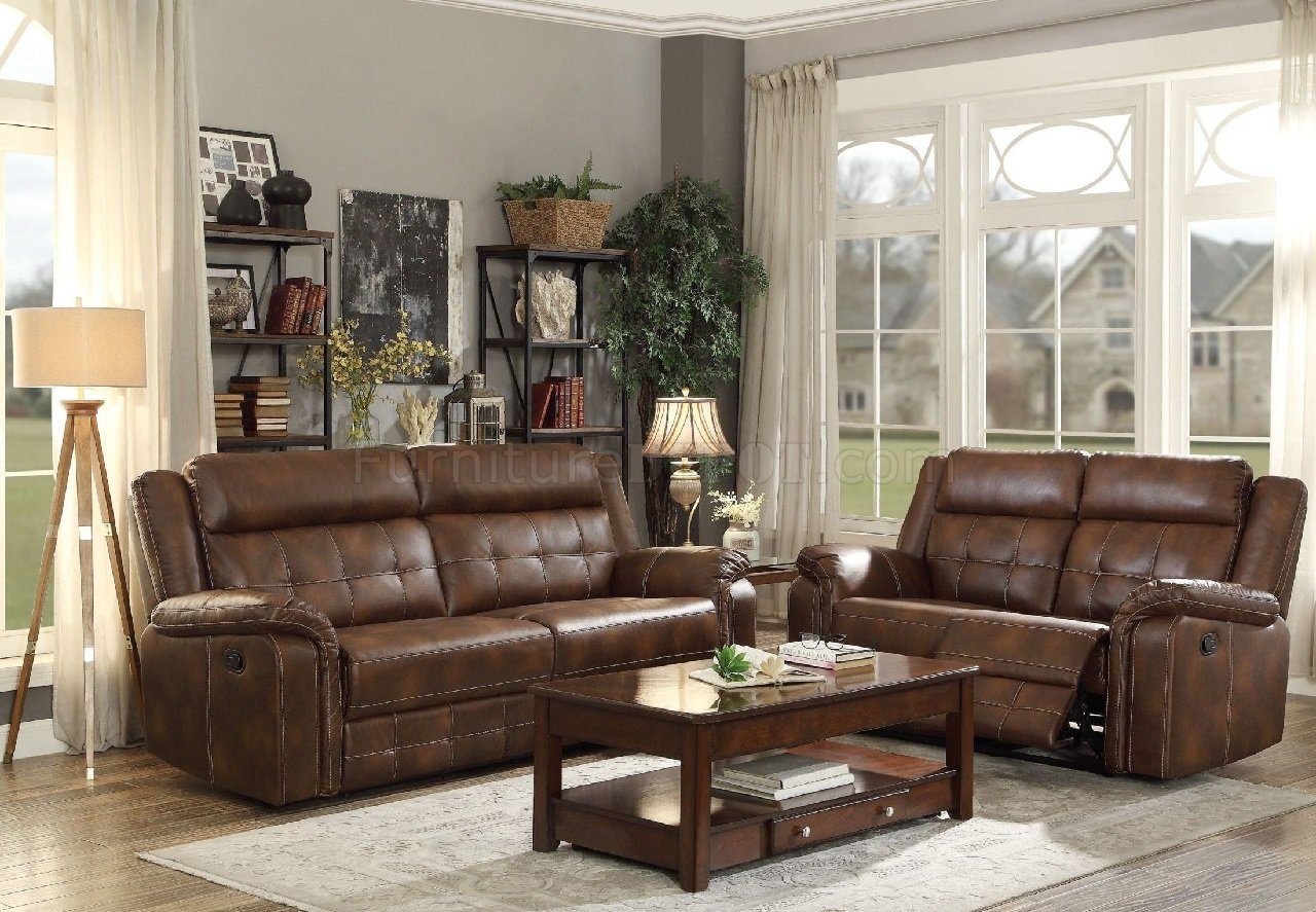Brown Sofa And Loveseat Sets Homelegance Keridge 2pc Brown Sofa Loveseat Set