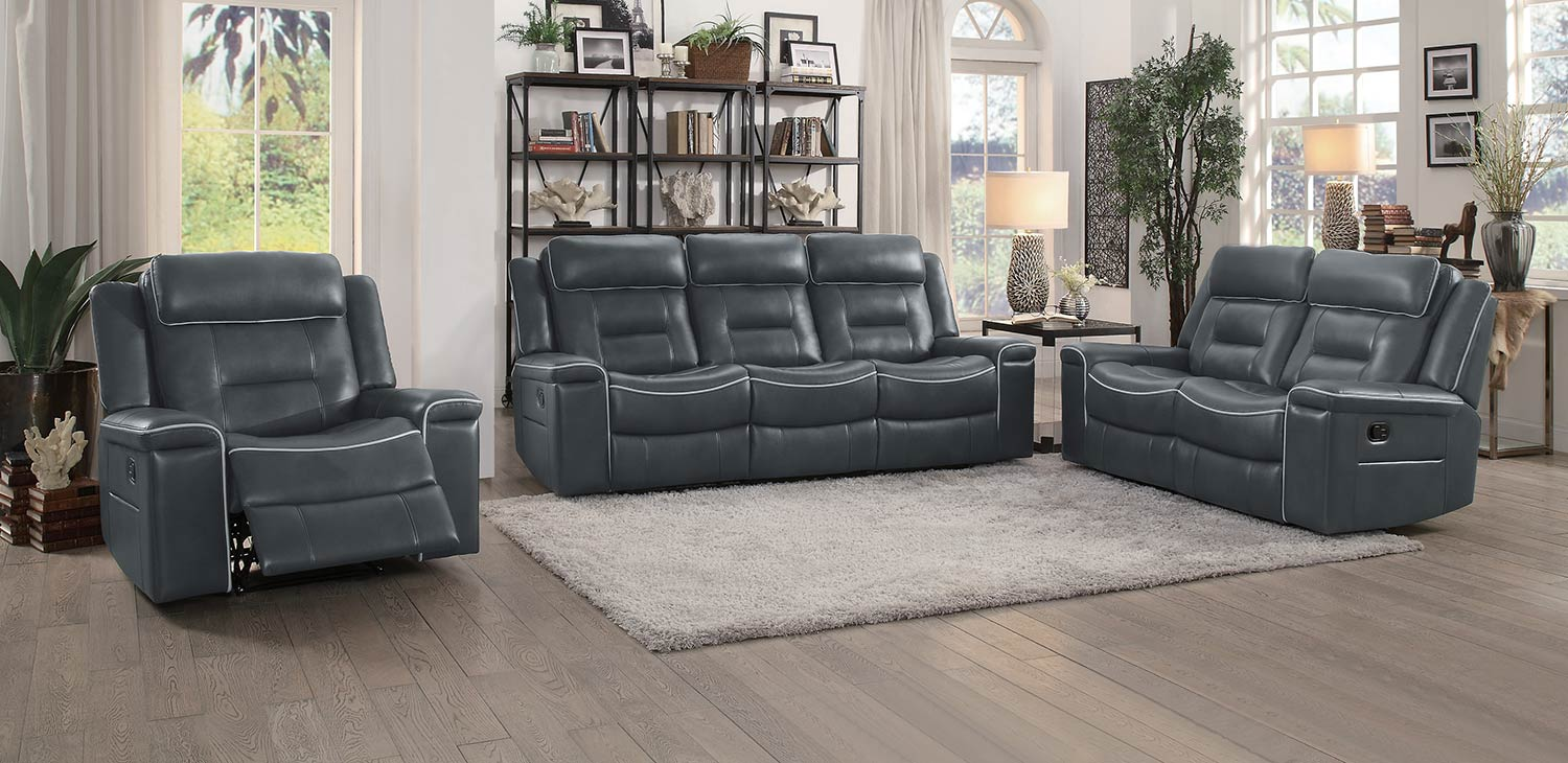 Living Room With Grey Sofa Homelegance Darwan 2pc Dark Grey Sofa Loveseat Set