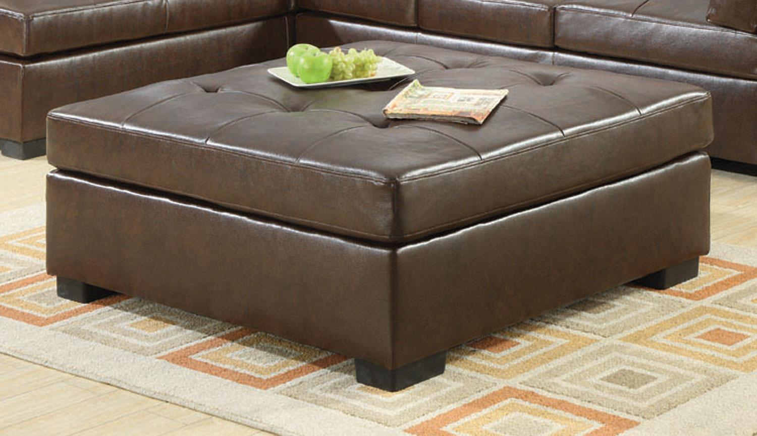 Soft Coffee Table With Storage Coaster Darie Brown Oversized Ottoman Dallas Tx Living