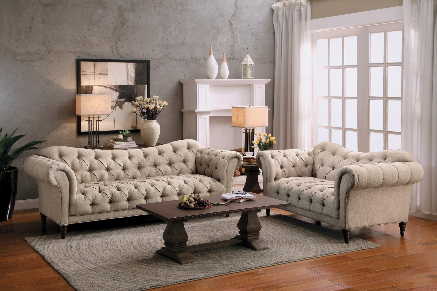 Brown Sofa And Loveseat Sets Homelegance St Claire 2pc Brown Sofa Loveseat Set