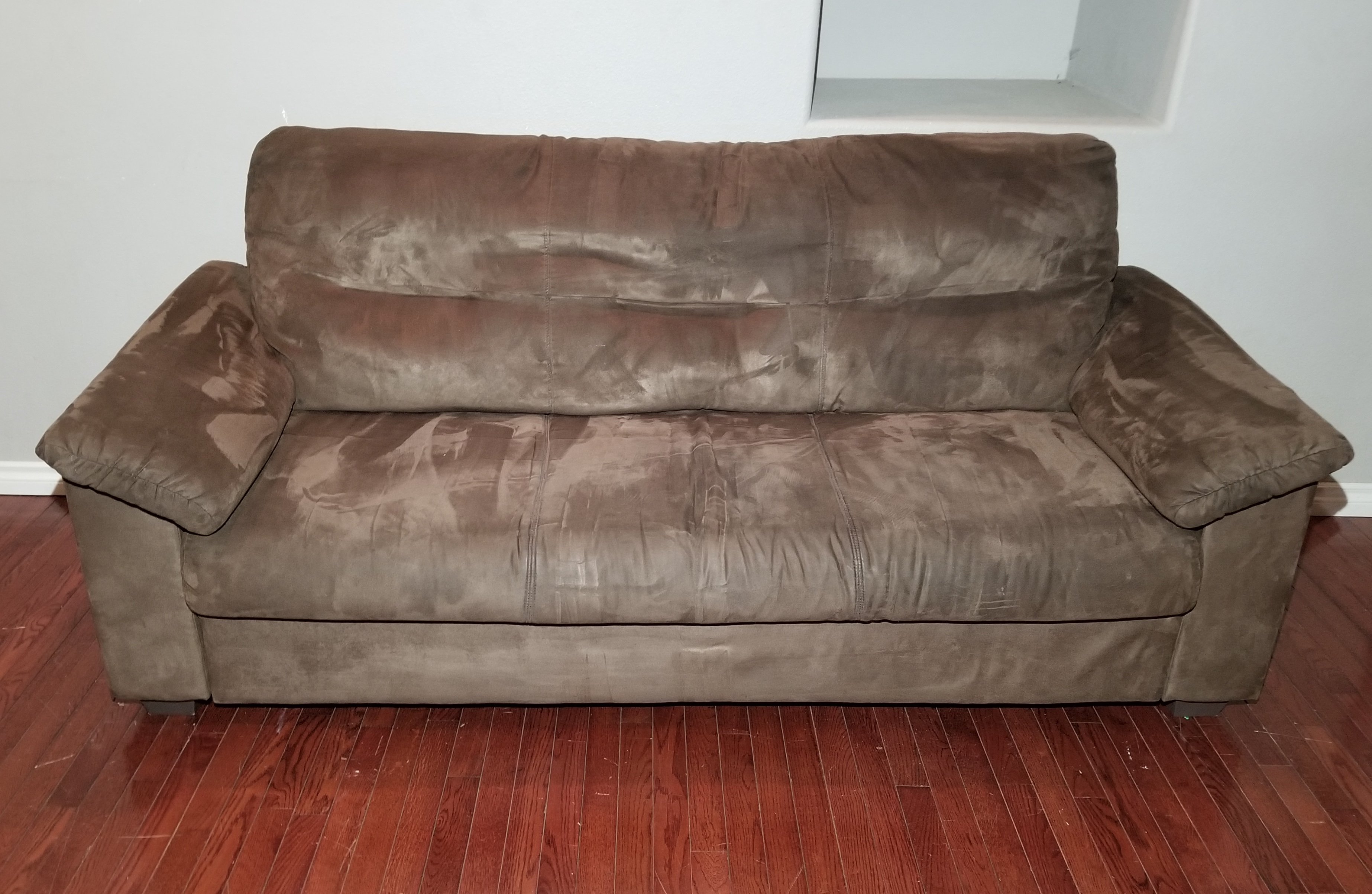 Broyhill Brown Corduroy Sofa Sof87 Ikea Knislinge Chocolate Brown Microfiber 3 Seat Couch