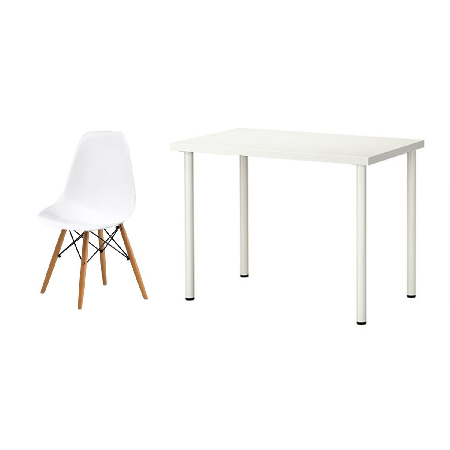 Linnmon Linnmon Adils Desk 100cm With Barnes Doily Chair White