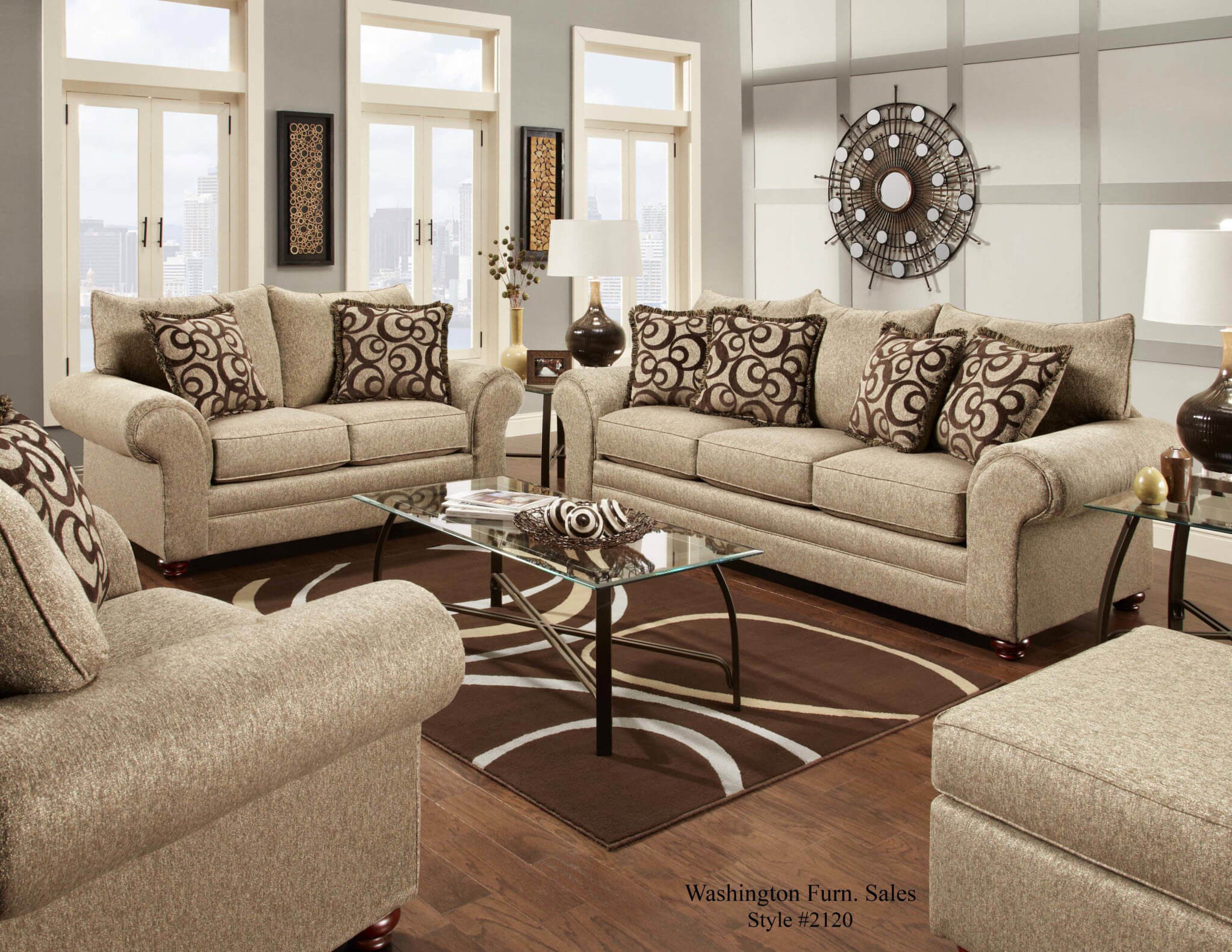 Living Room Sofas Sets 2120 Washington Mix Cafe Sofa And Loveseat Discontinued