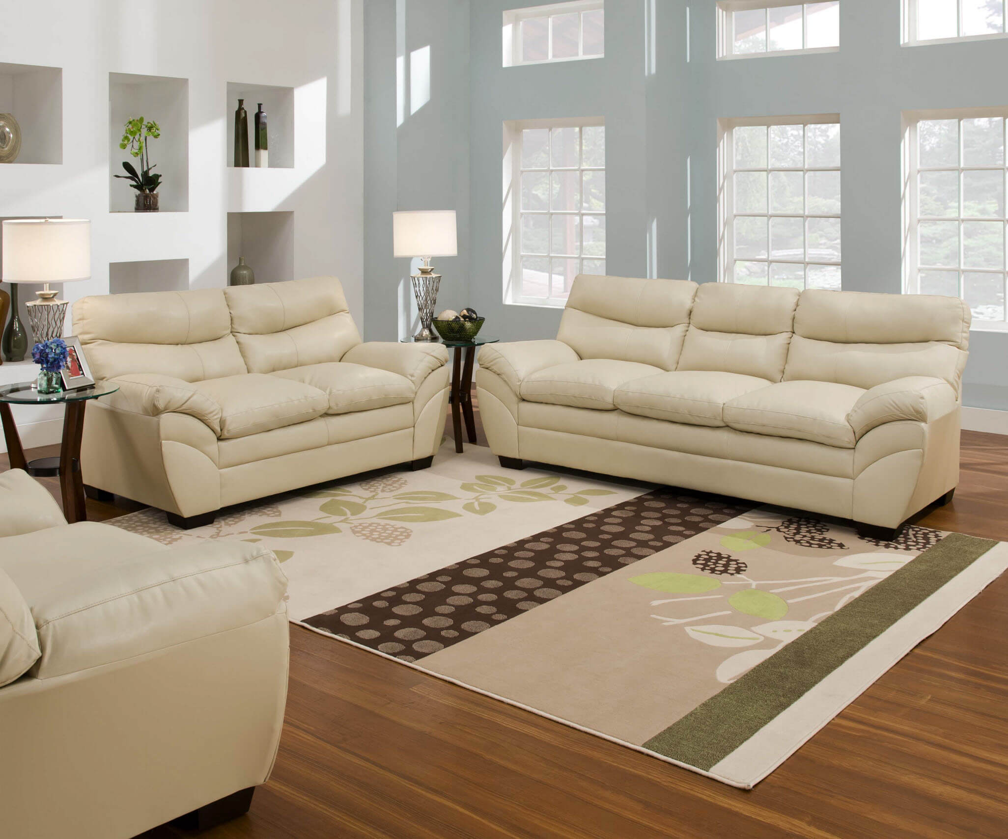 Living Room Sofas Sets 9515 Simmons Soho Natural Sofa And Loveseat Discontinued