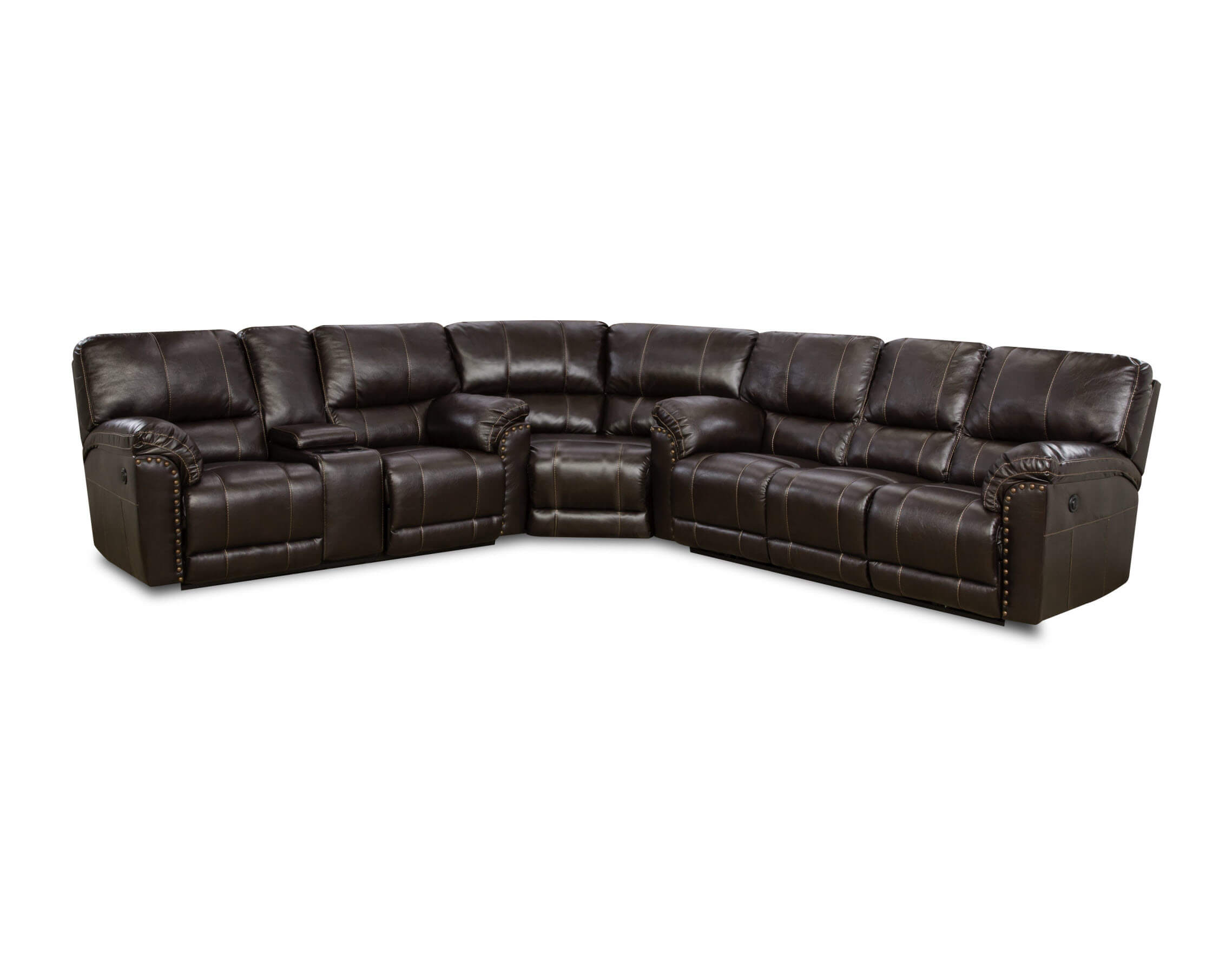 Sofa Set Sale In Kannur Abilene Chestnut Reclining Sectional By Simmons