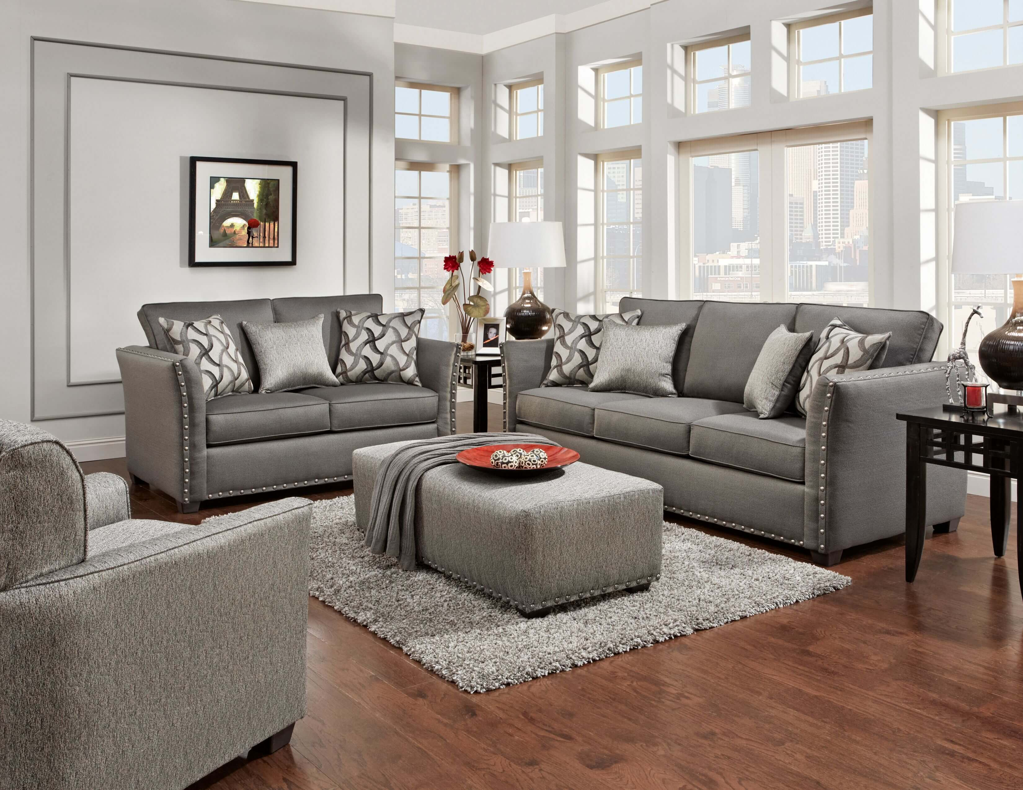 Living Room Sofas Sets Technique Charcoal Sofa And Loveseat | Fabric Living Room