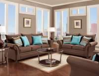 Jitterbug Cocoa Sofa and Loveseat   Fabric Living Room Sets