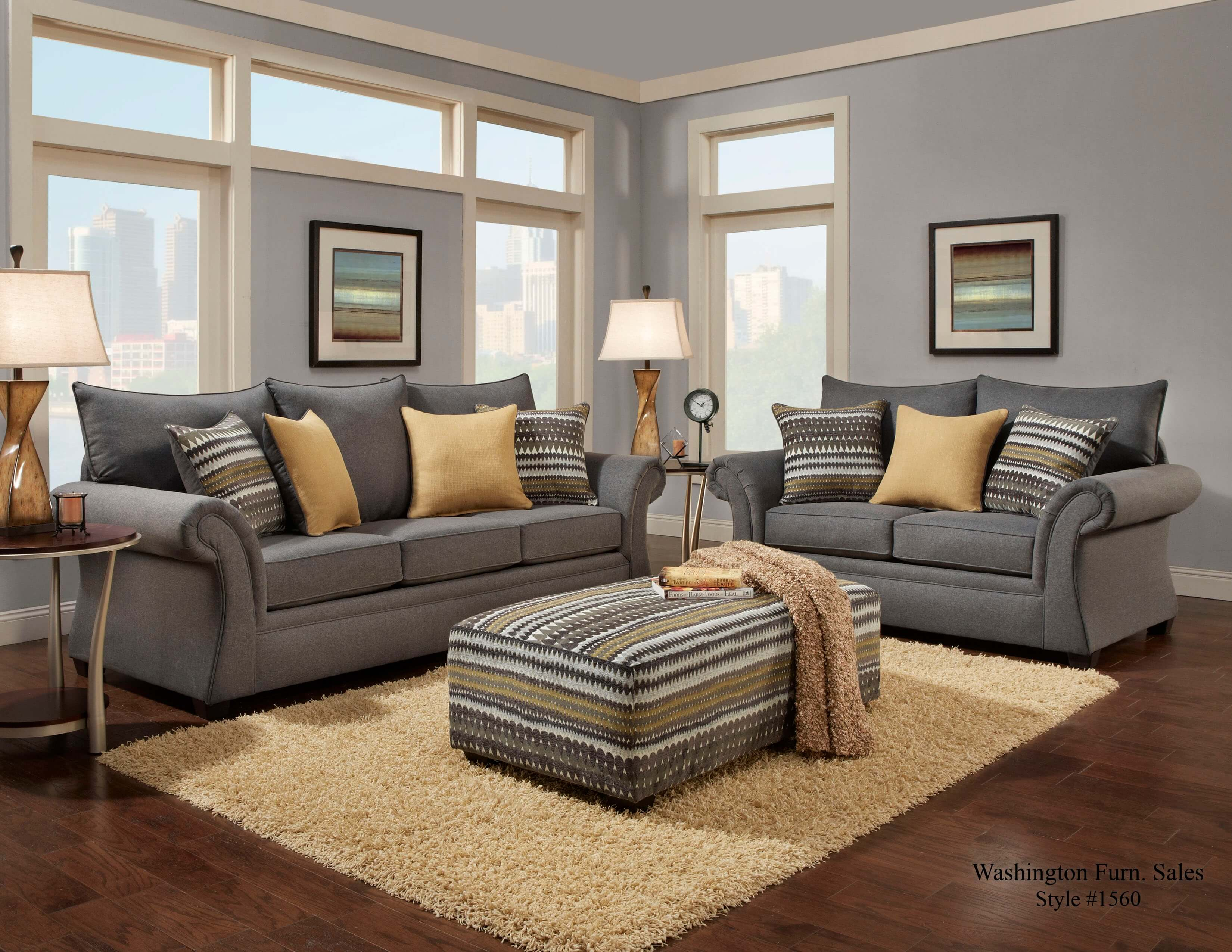 Gray Sofas For Living Room 1560 Jitterbug Gray Sofa And Loveseat Discontinued