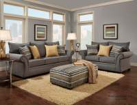 Jitterbug Gray Sofa and Loveseat | Fabric Living Room Sets