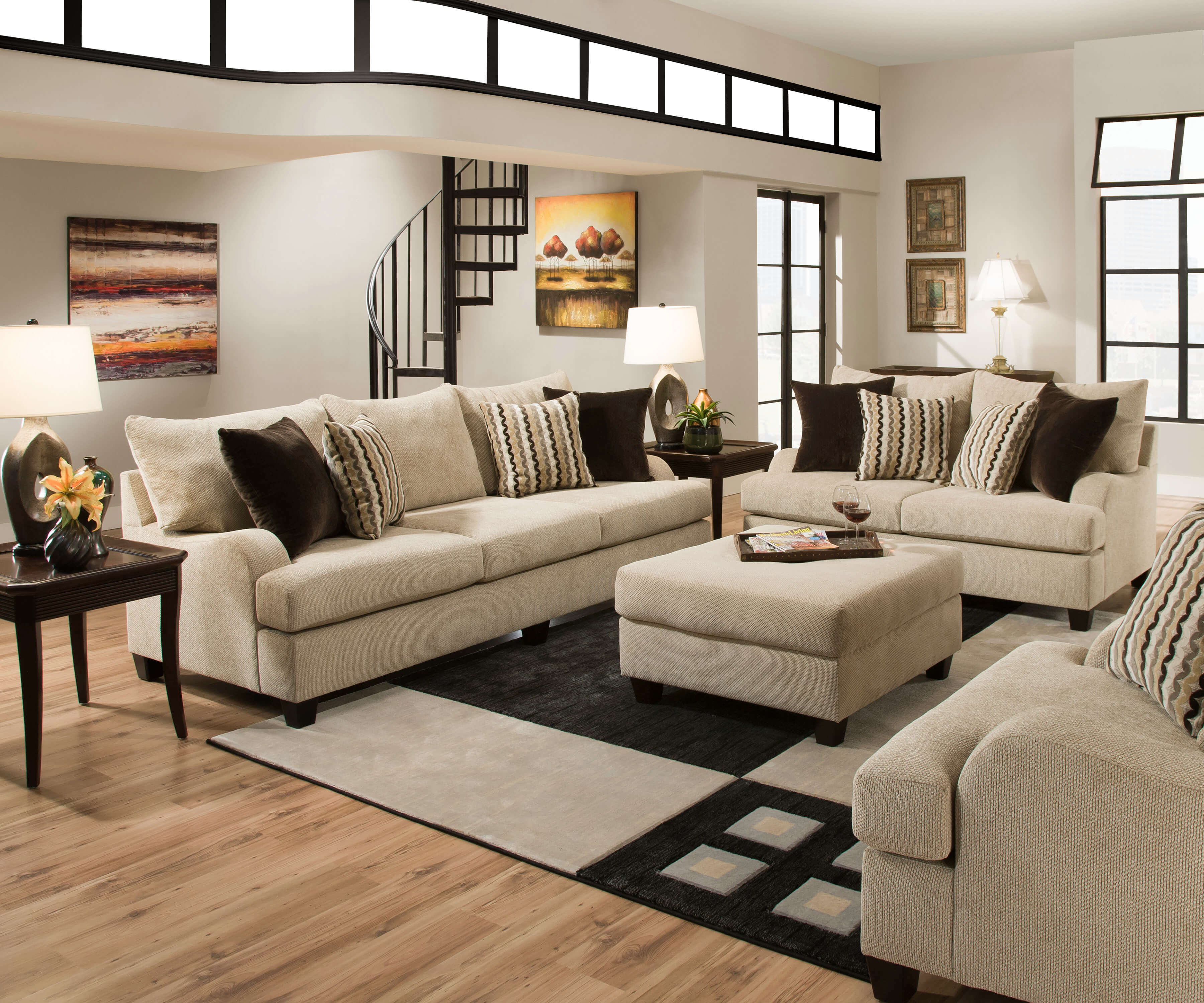 Living Room Sofas Sets 8520 Simmons Trinidad Taupe Living Room Set Discontinued