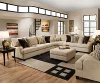 Simmons Trinidad Taupe Sectional Set | Sectional Furniture