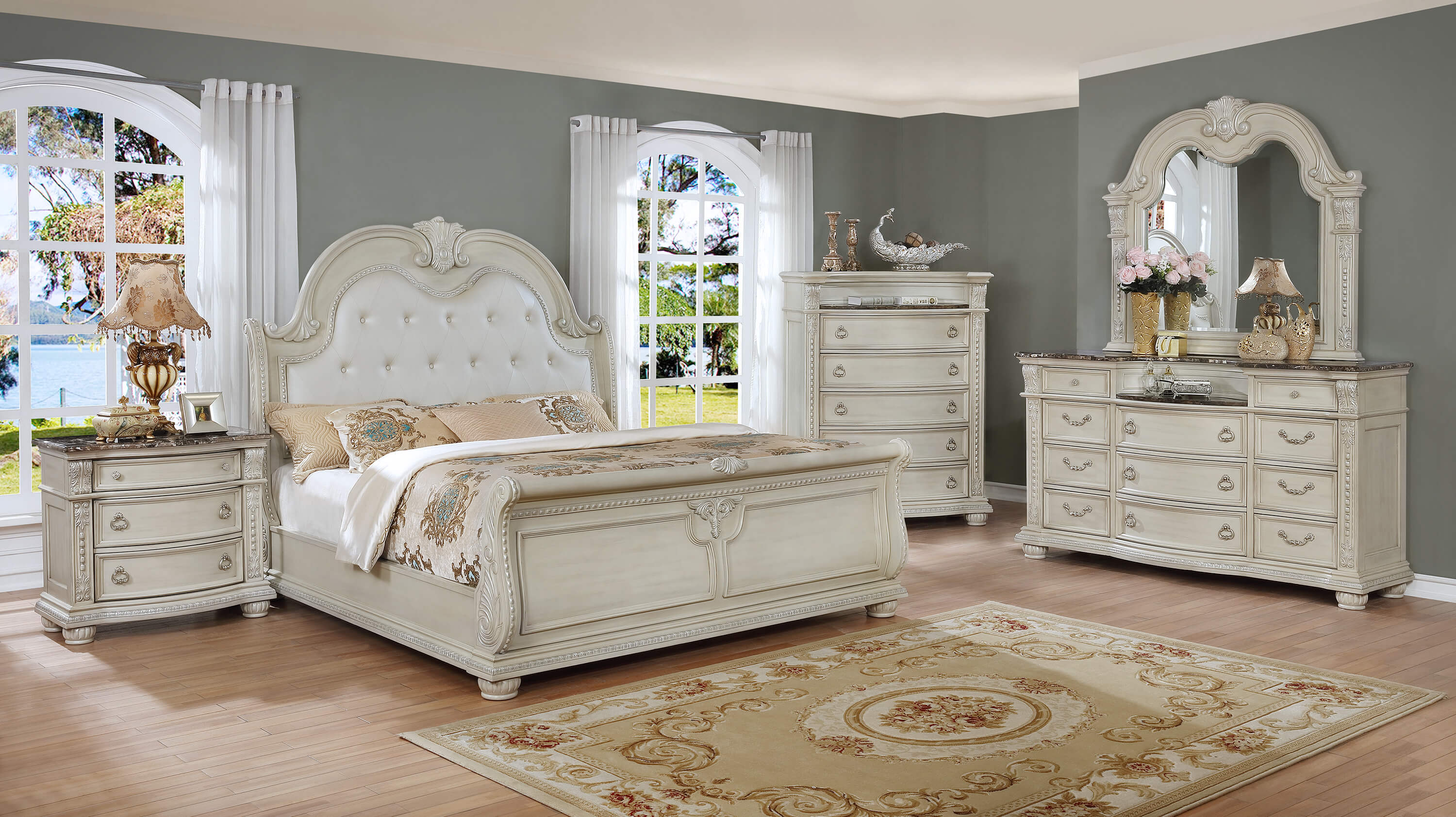 Marble Bedroom Stanley Antique White Marble Bedroom Set Bedroom
