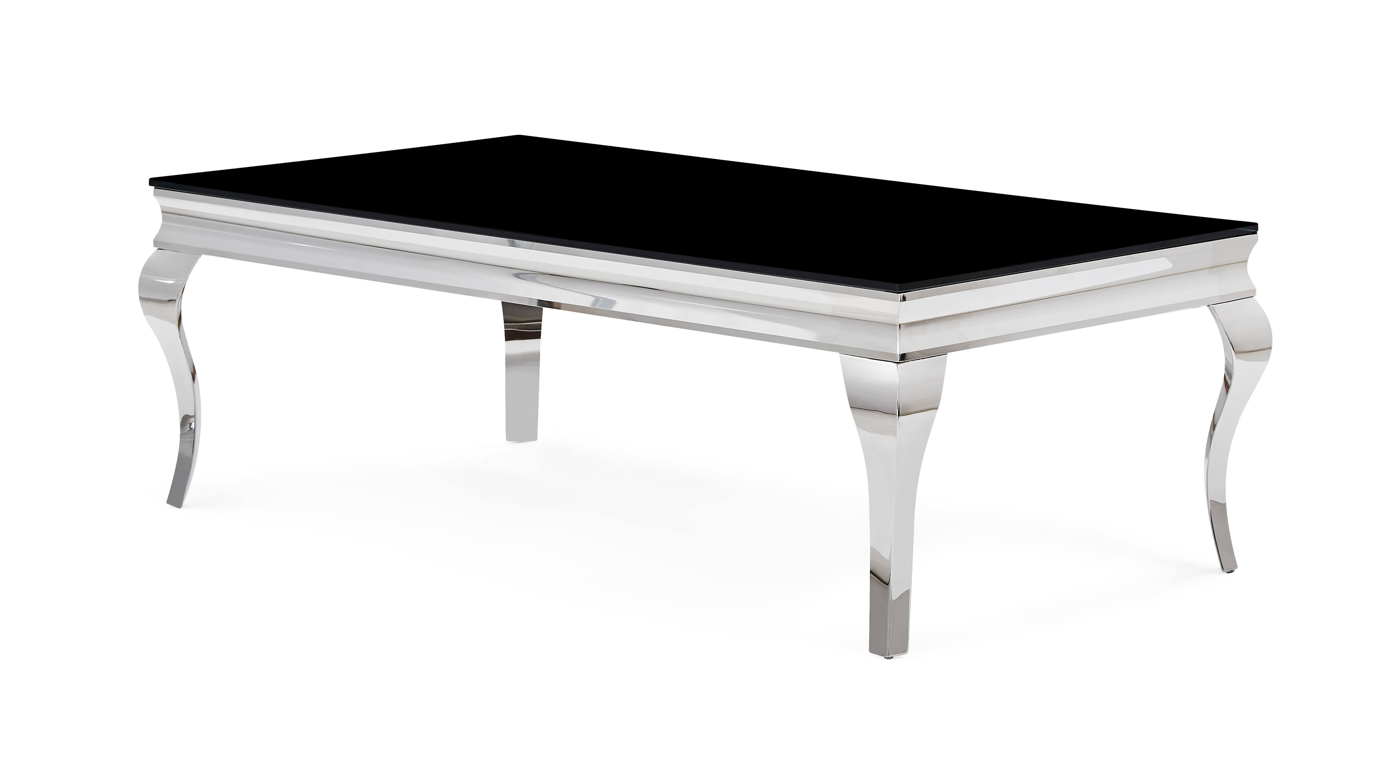 Black End Tables With Drawer T858 Neoclassical Black And Chrome Coffee Table