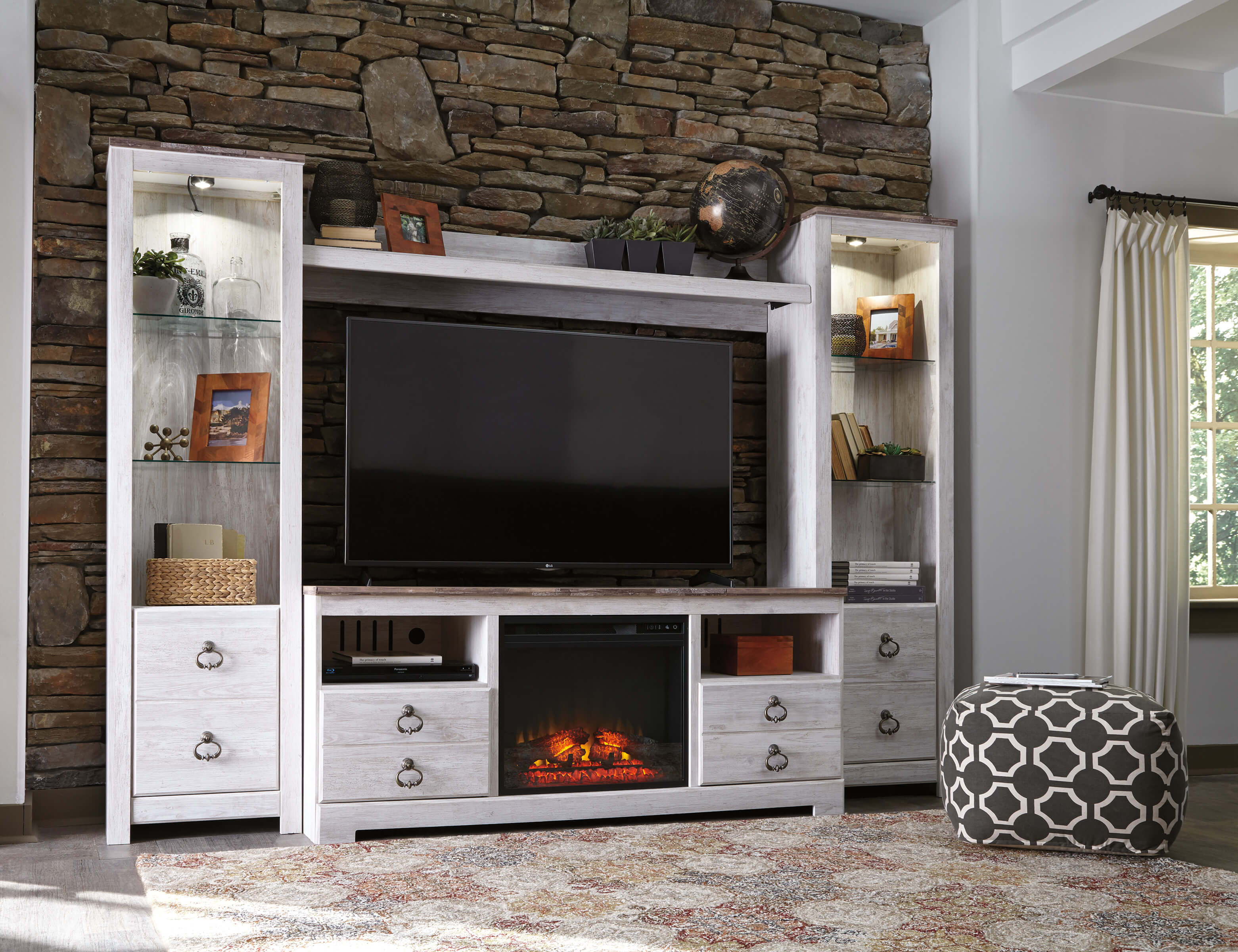 Fireplace Wall Units W267 Willowton Entertainment Wall Unit With Fireplace