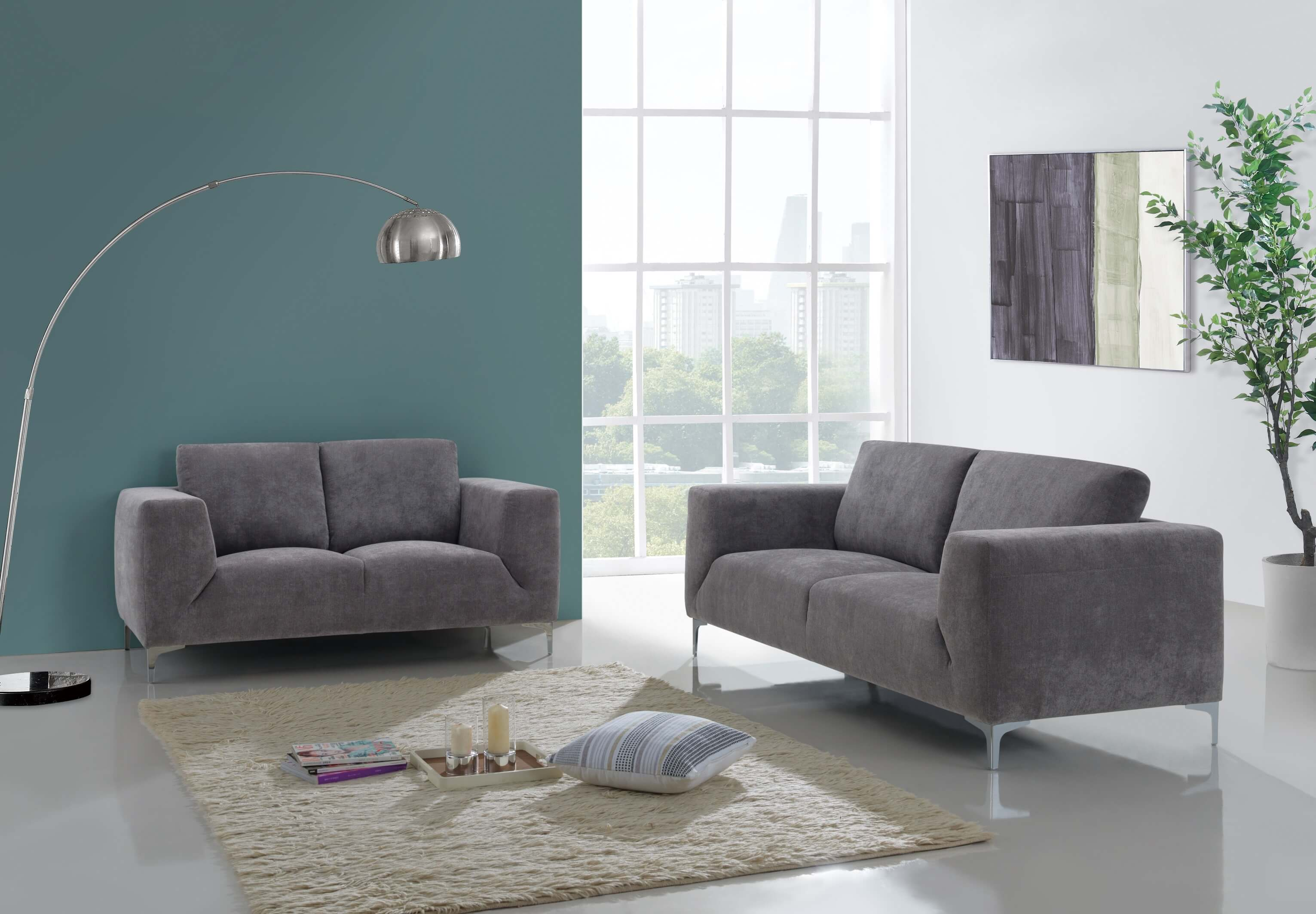 Barlow White Leather Sofa And Loveseat Set Contemporary Sofa And Loveseat Set Baci Living Room
