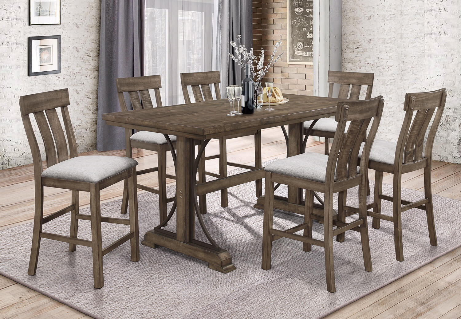 Dining Table Height Cm 5pc Quincy Counter Height Dining Set Urban Furniture Outlet