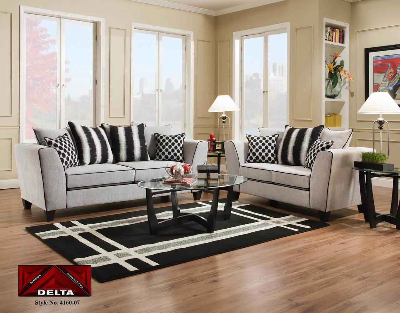 Sofa Outlet Paisley 4160 Riley Cement Sofa And Loveseat