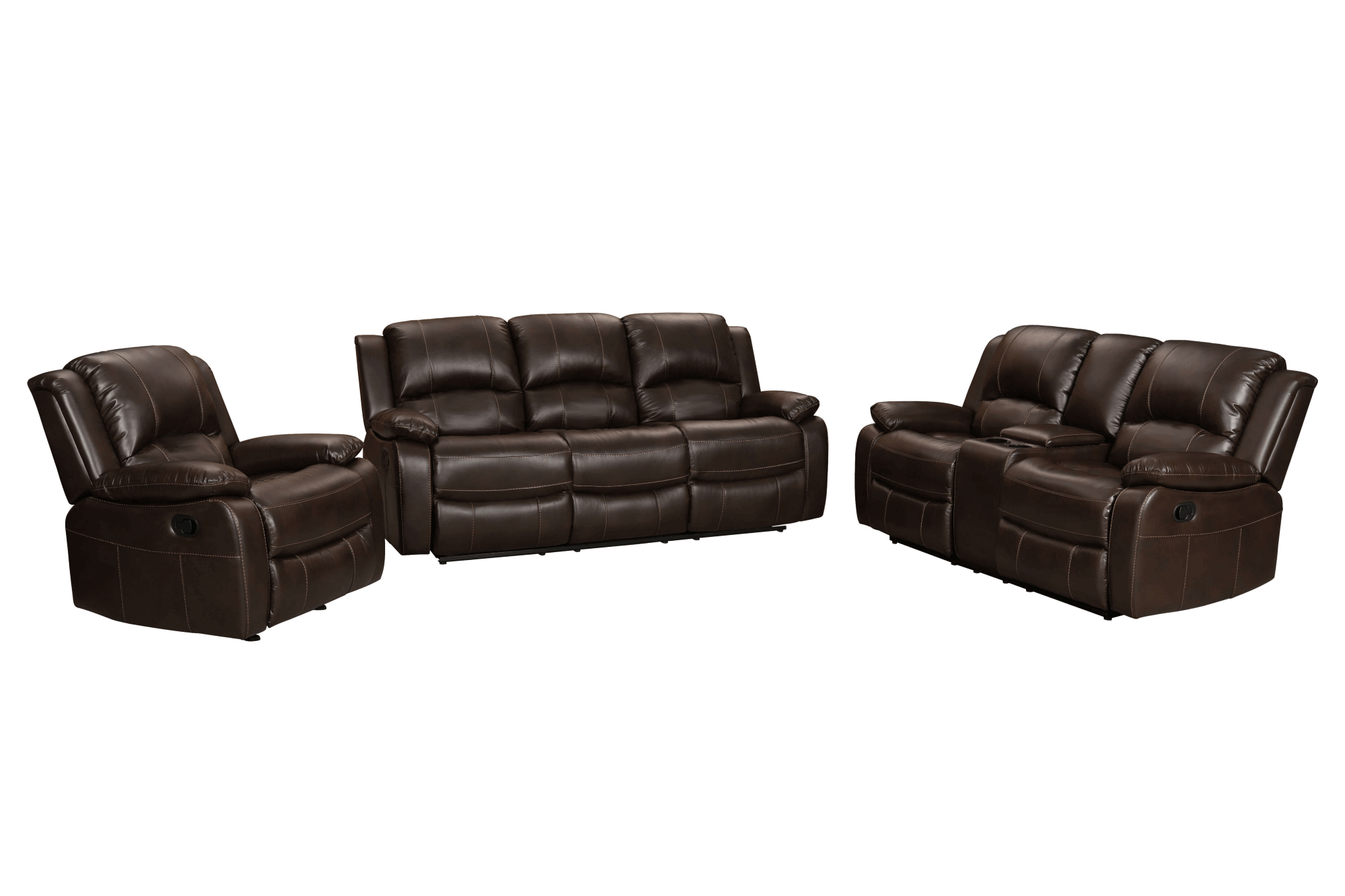 Brown Sofa And Loveseat Sets 3333 Brown Reclining Sofa Loveseat Set