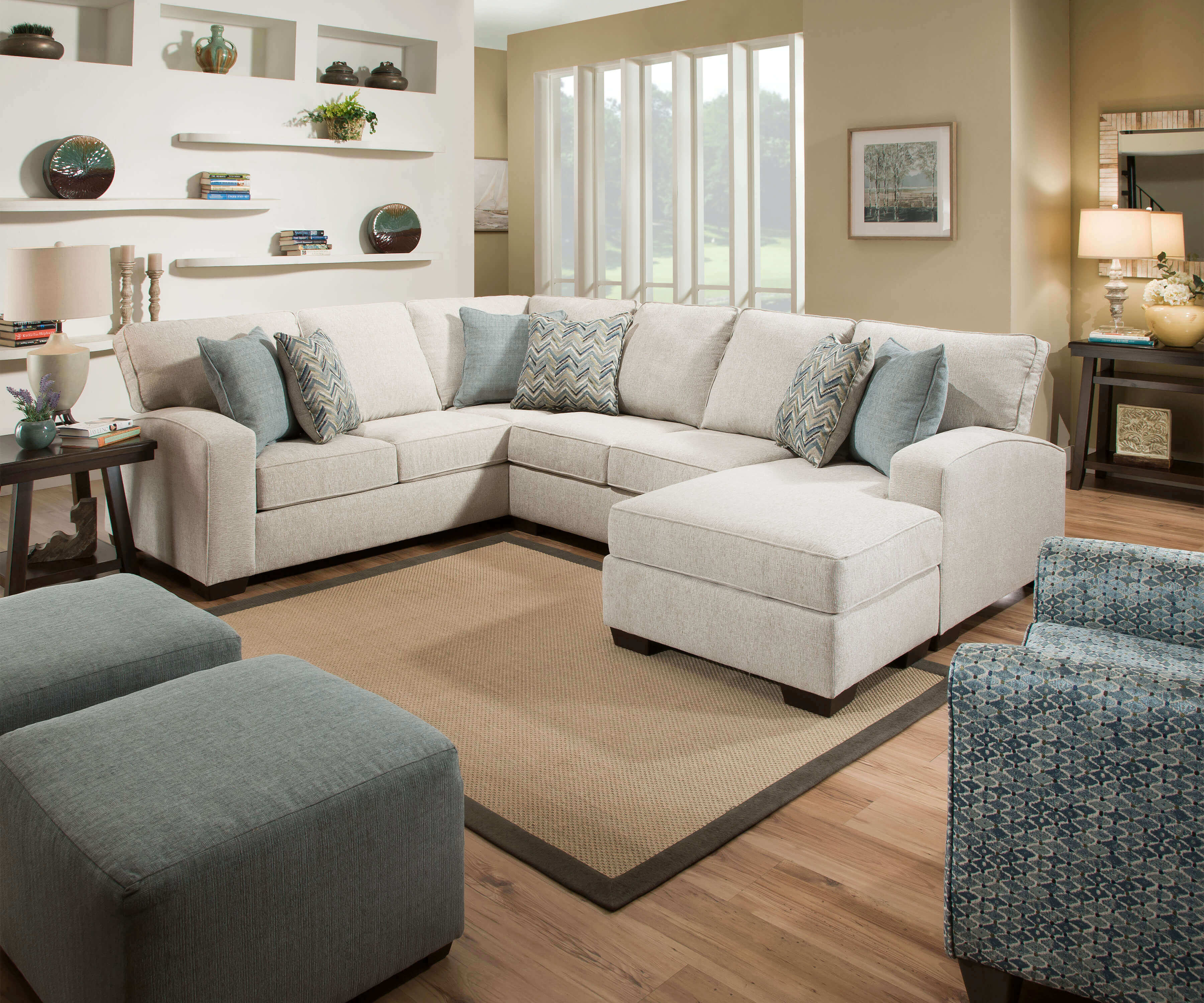 Endurance Grain Sectional With Chaise Urban Furniture Outlet