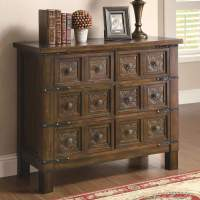 Accent Cabinets Rustic Brown Accent Cabinet with 6 Drawers ...