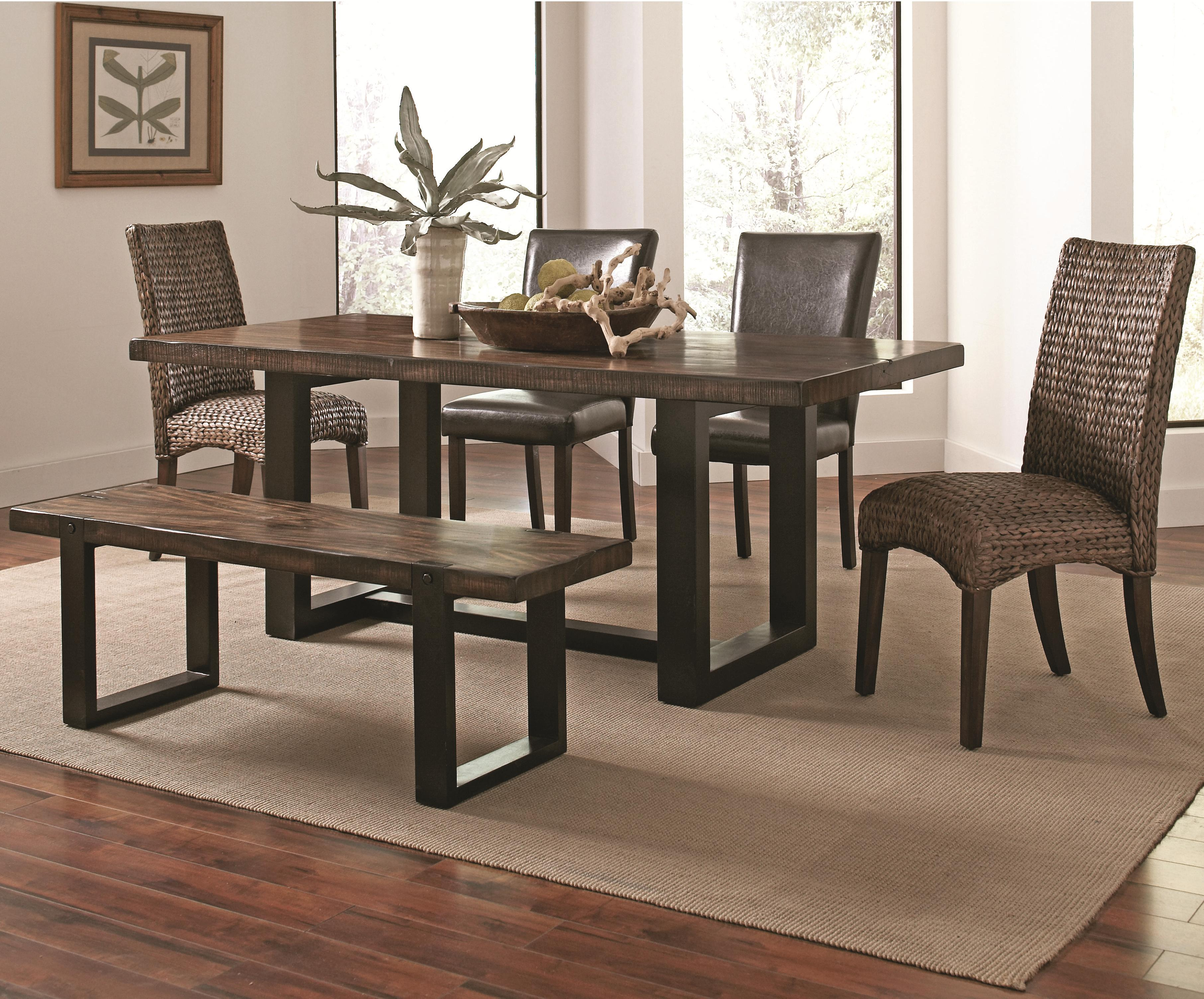 Mixing Dining Room Chairs Westbrook Dining Casual Rustic 6 Piece Mix And Match