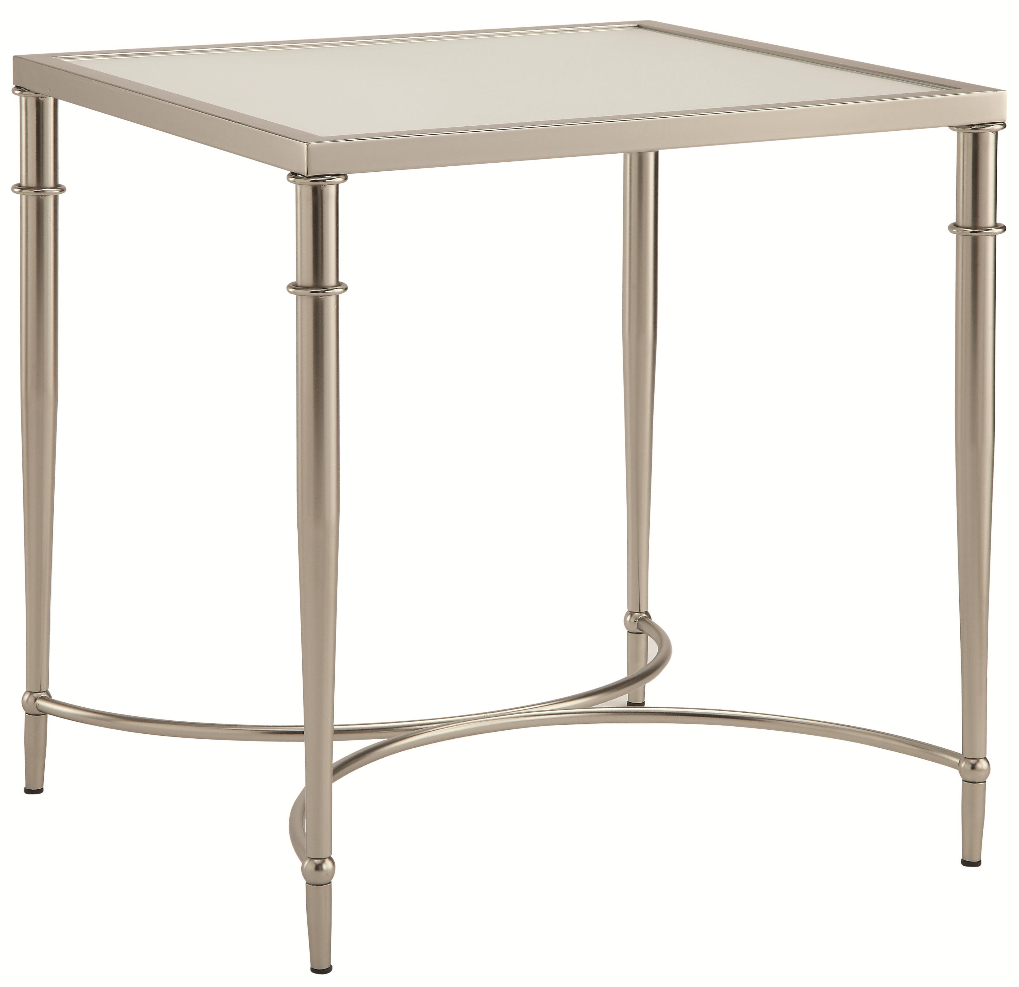 End Tables With Metal Legs 70334 End Table With Metal Legs And Frosted Glass Top