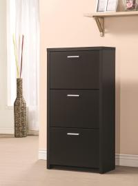 Accent Cabinets Tall 3-Drawer Shoe Cabinet | Quality ...