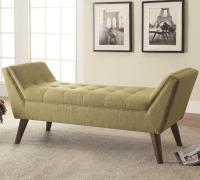 Benches Mid-Century Modern Upholstered Accent Bench ...