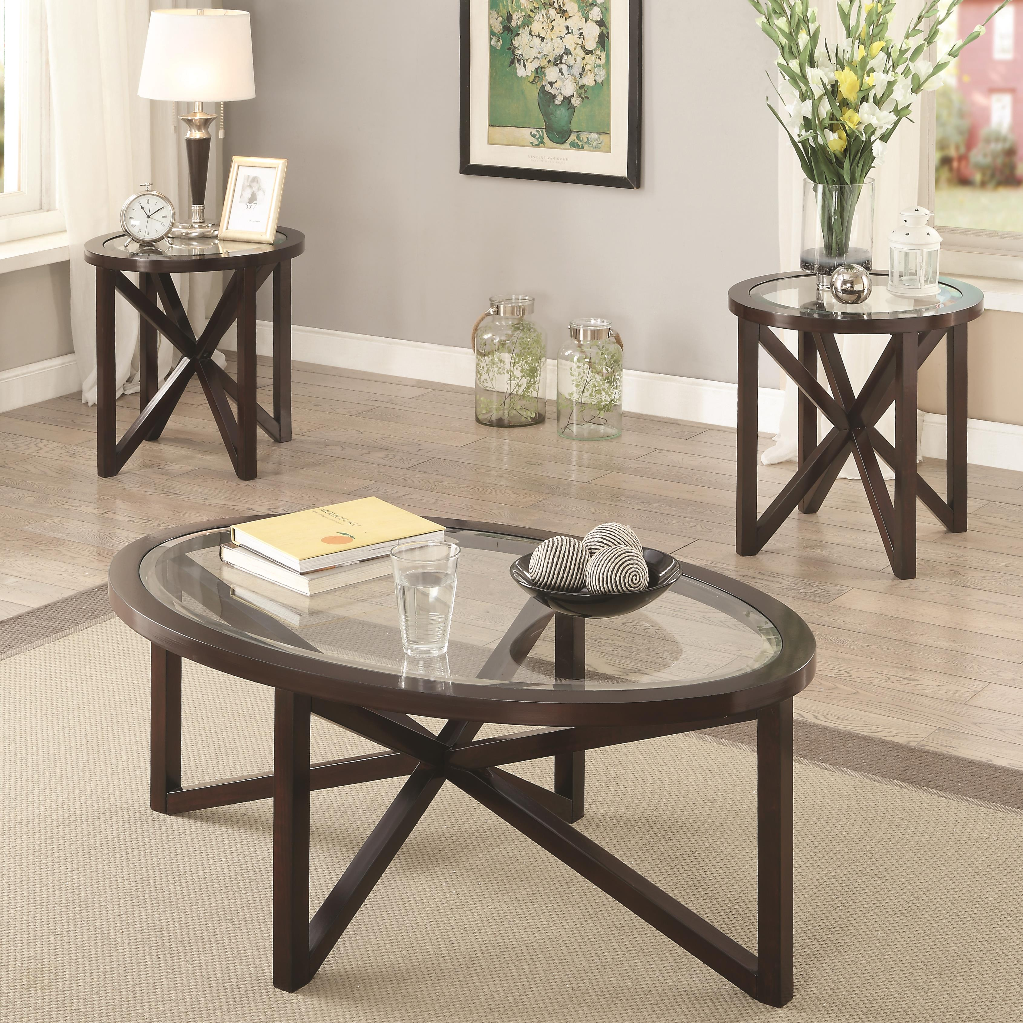 Glass End Tables Set 3 Piece Occasional Table Sets 3 Piece Accent Table Set