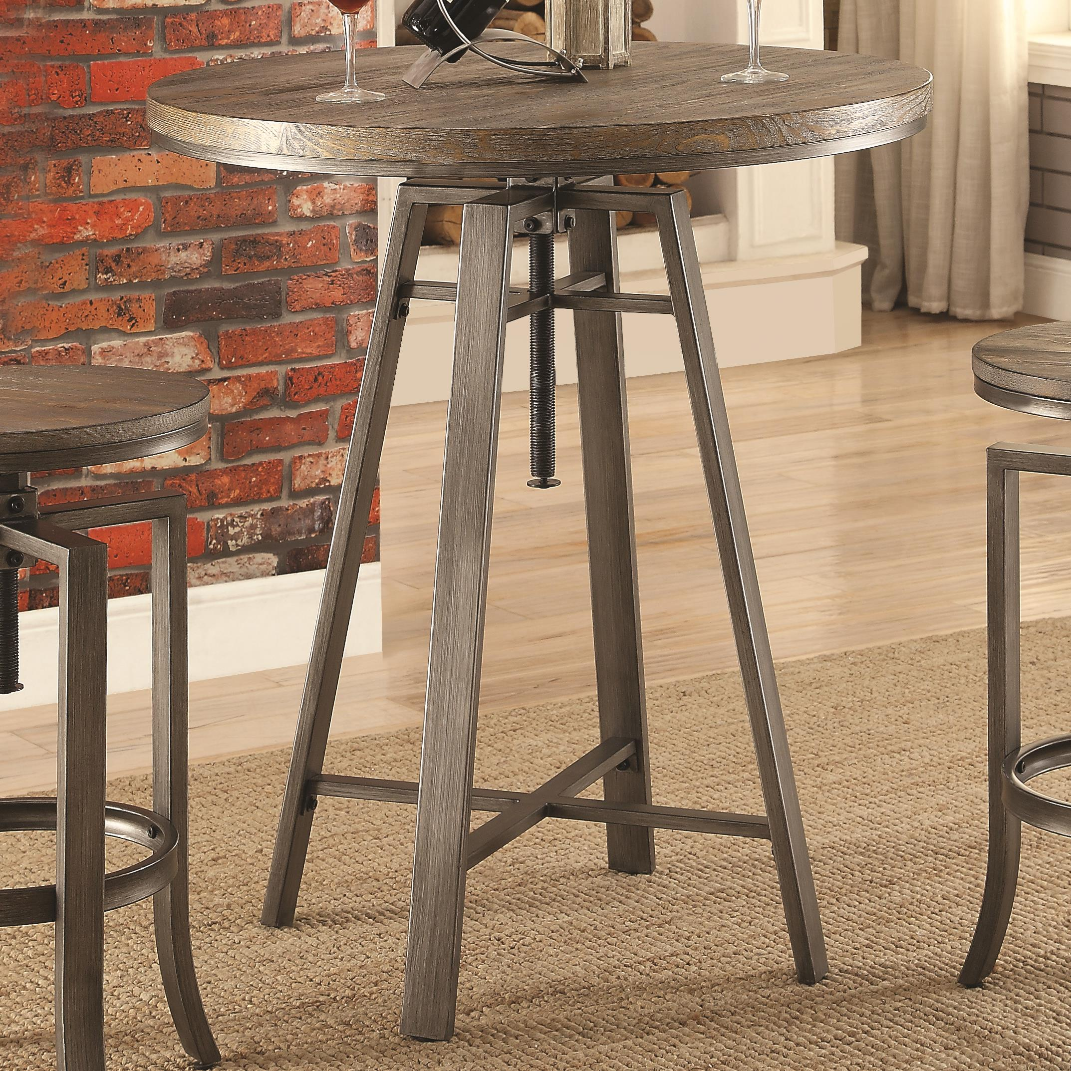 Table Bar Industriel 10181 Industrial Bar Table With Swivel Adjustable Height