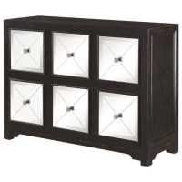 950776 Modern Accent Cabinet with Mirrored Drawers ...