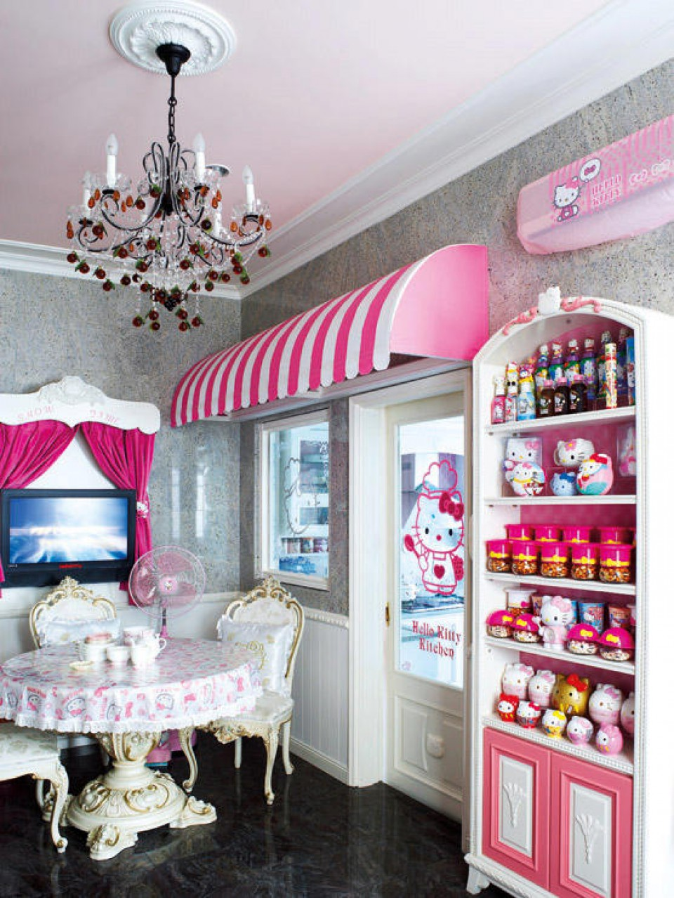 Serba Hello Kitty Rumah Tema Hello Kitty Dari Hiasan Sampai Furniture Serba Pink
