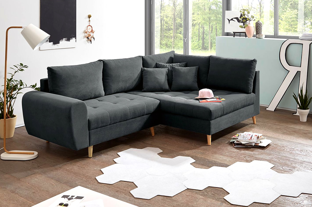 Ecksofa R Black Red White Ecksofa Alice Rechts Anthrazit