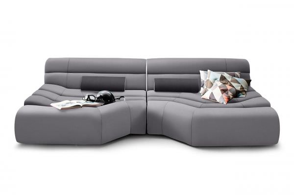 Dauerschläfer Sofa New Look Bigsofa Elements - Grau | Furnster.de