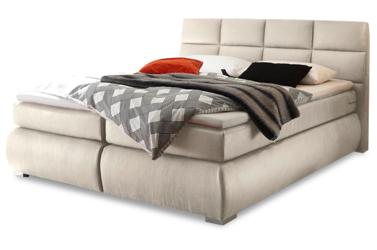 Boxspringbett Creme Black Red White Boxspringbett Kosali 180x200 Creme