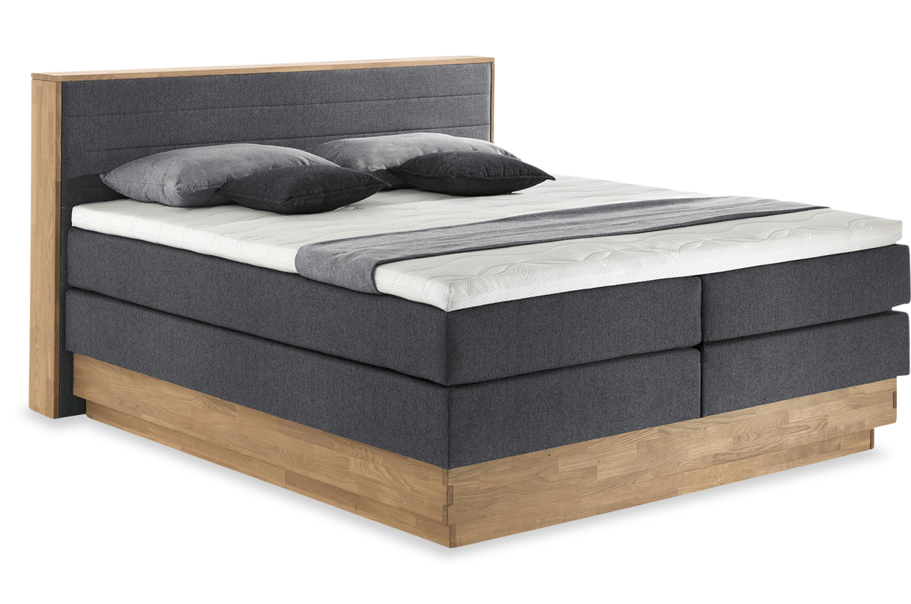 Boxspringbett Mit Motor Test Cotta Boxspringbett Moneta Massivholz - Mit Bettkasten | Furnster.de